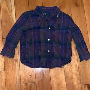 EUC Ralph Lauren Purple Plaid Shirt